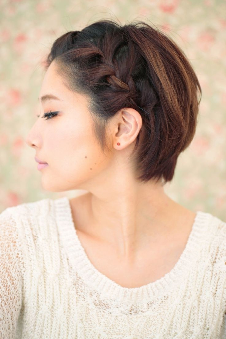 10 Braided Hairstyles For Short Hair – Popular Haircuts With Regard To Fashionable Messy Pixie Asian Hairstyles (View 1 of 20)