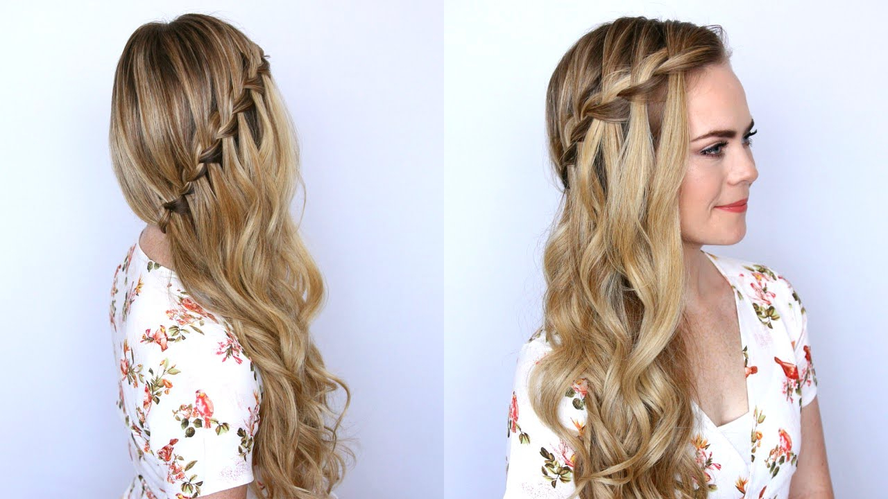 10 Easy Waterfall Braids You Can Do At Home – The Trend Spotter With Regard To Recent Cascading Silky Waves Hairstyles (View 14 of 20)