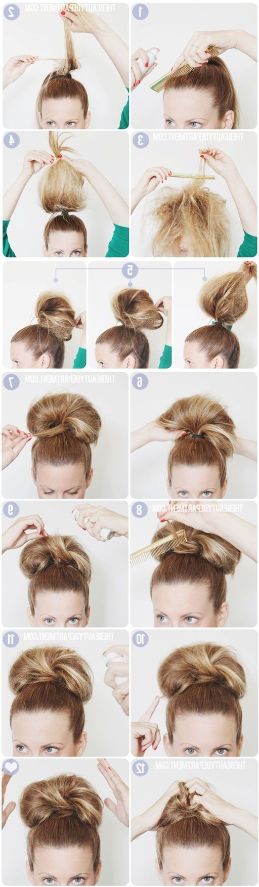 10 Super Easy Updo Hairstyles Tutorials – Popular Haircuts Inside Widely Used Elegant High Bouffant Bun Hairstyles (View 15 of 20)