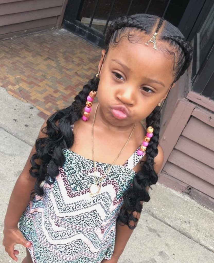 10 Trendy Braided Hairstyles For Black Girls » Black Kids Pertaining To Well Liked Mermaid Waves Hairstyles With Side Cornrows (View 1 of 20)