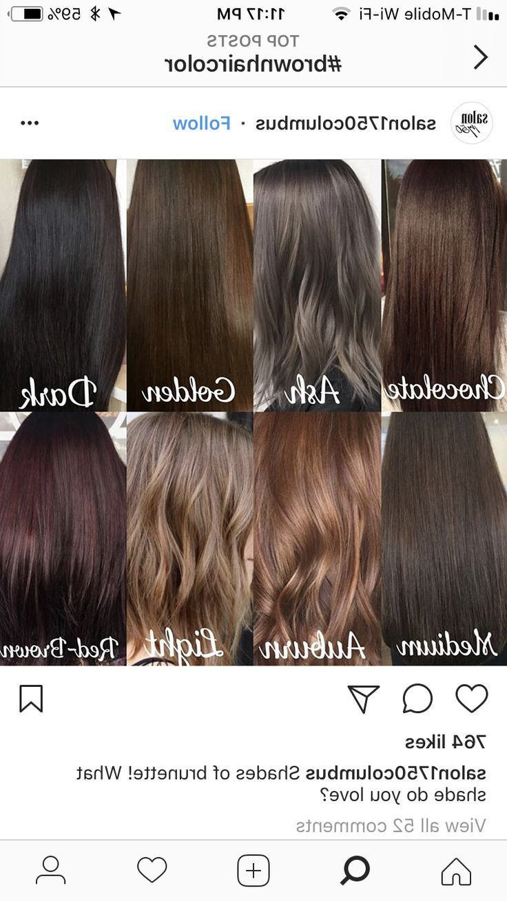 100 New Hairstyle And Color Ideas For 2019 – Just Trendy With Preferred Easy Side Downdo Hairstyles With Caramel Highlights (Gallery 11 of 20)