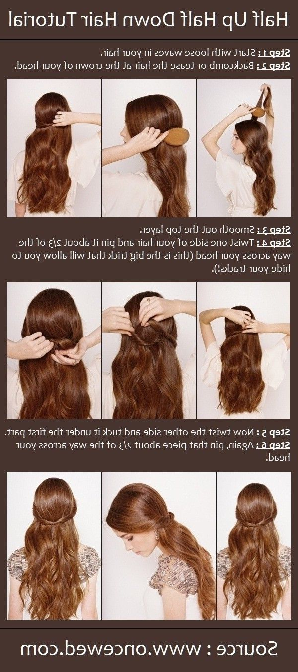12 Hottest Wedding Hairstyles Tutorials For Brides And With Famous Loose Waves Hairstyles With Twisted Side (Gallery 10 of 20)