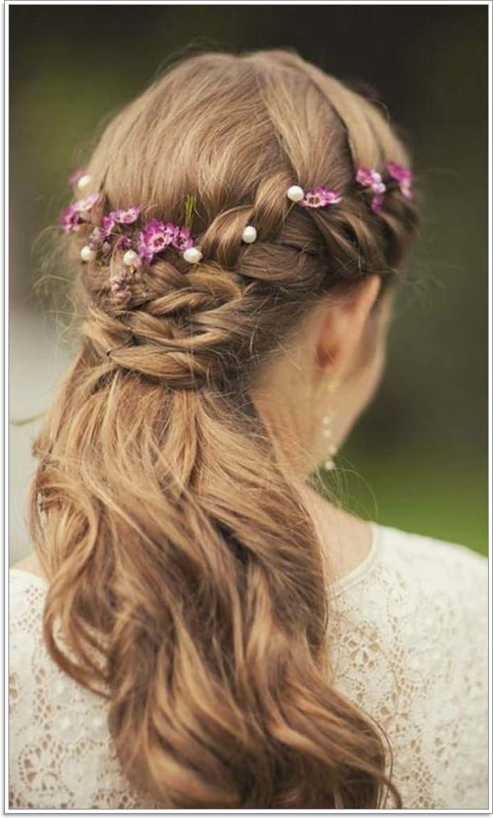 135 Whimsical Half Up Half Down Hairstyles You Can Wear For For 2019 Long Half Updo Hairstyles With Accessories (Gallery 15 of 20)