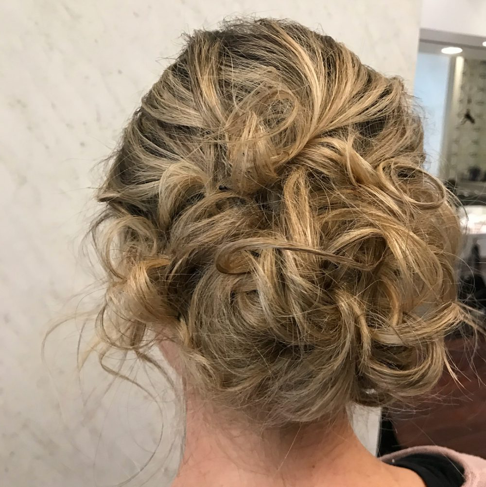 18 Sexiest Messy Updos You'll See In 2019 In Current Messy Updo Hairstyles With Free Curly Ends (Gallery 17 of 20)