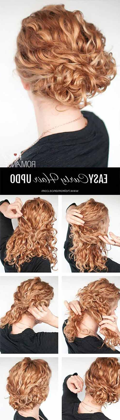 20 Incredibly Stunning Diy Updos For Curly Hair Within Most Up To Date Messy Updo Hairstyles With Free Curly Ends (View 2 of 20)
