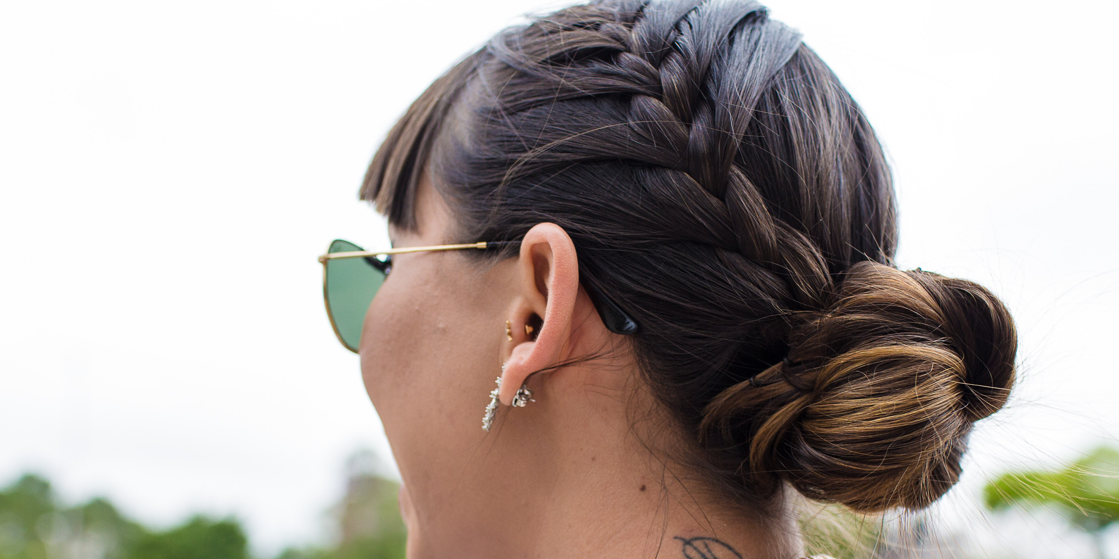 2019 Braided High Bun Hairstyles With Layered Side Bang Throughout How To Braid Hair – 10 Tutorials You Can Do Yourself (View 6 of 20)