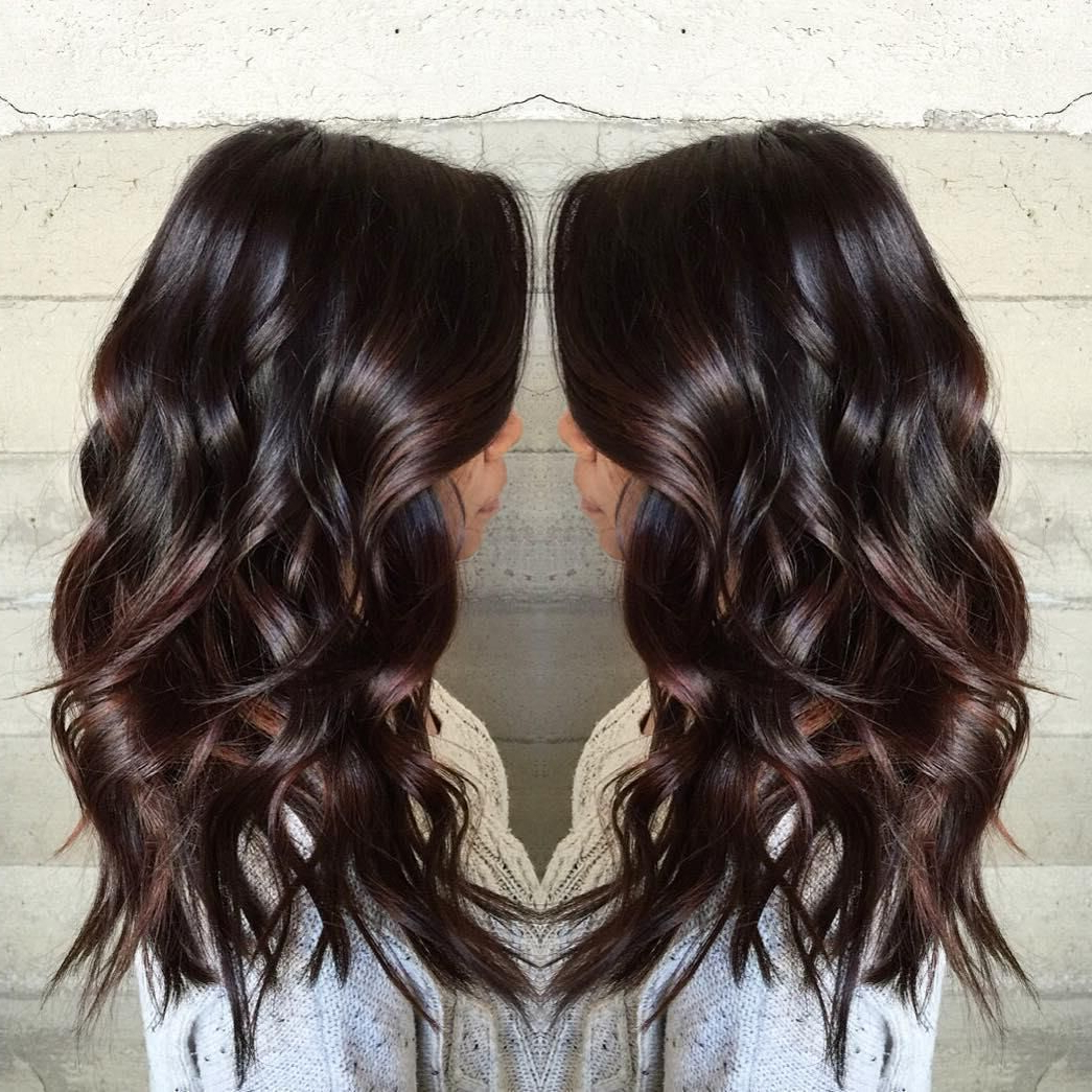 2019 Cascading Silky Waves Hairstyles With Regard To 60 Chocolate Brown Hair Color Ideas For Brunettes (View 6 of 20)