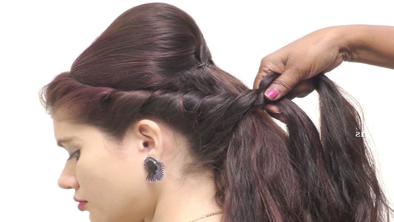 2019 Elegant High Bouffant Bun Hairstyles In Elegant High Bun Hairstyles For Long Hair // Hairstyles For (View 6 of 20)