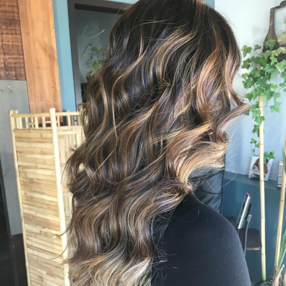 2020 Long Waves Hairstyles With Subtle Highlights Pertaining To 24 Long Wavy Hair Ideas That Are Freaking Hot In (View 4 of 20)