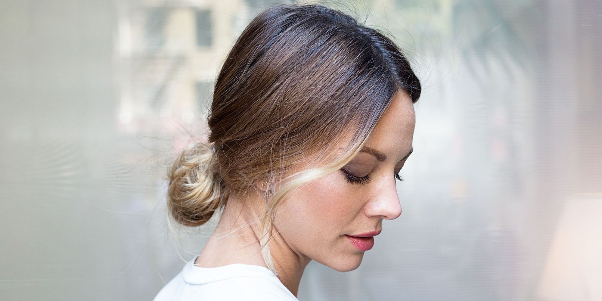 2020 Loose Low Ponytail Hairstyles With Casual Side Bang Inside 11 Ways To Make Your Bun Look Less Basic (View 5 of 20)