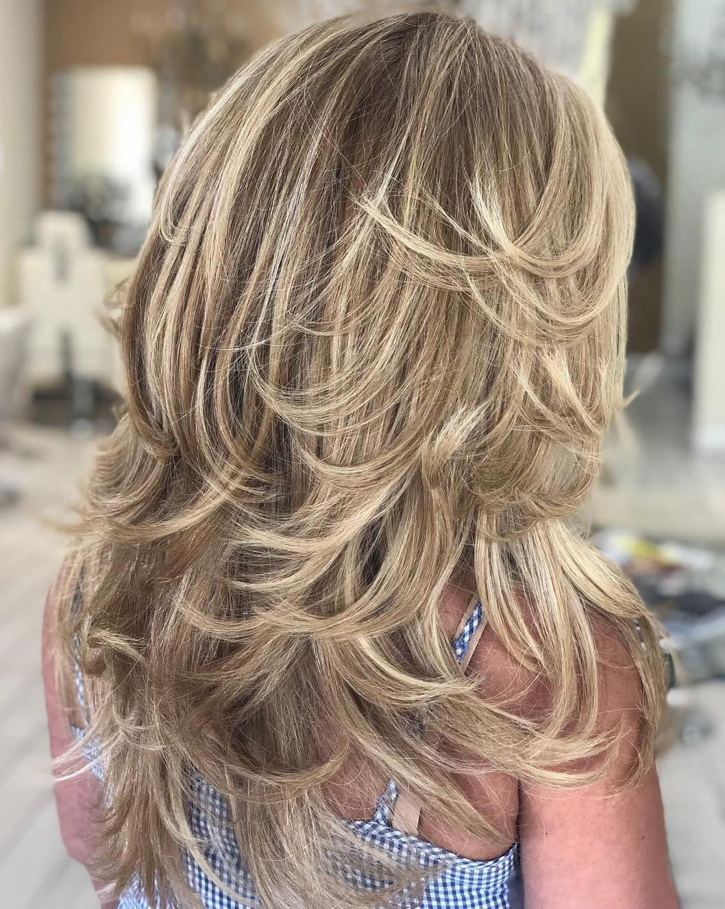 2020 Straight Layered Hairstyles With Twisted Top Regarding Trendy Hairstyles And Haircuts For Long Layered Hair To Rock (View 13 of 20)