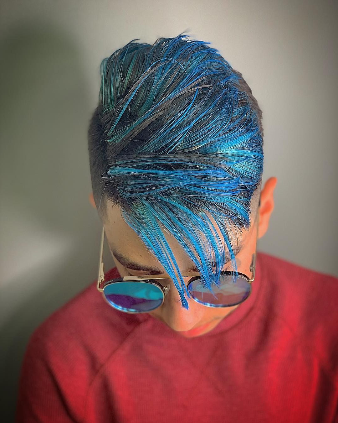 2020 Turquoise Side Parted Mohawk Hairstyles For Men's Hair, Haircuts, Fade Haircuts, Short, Medium, Long (View 2 of 20)