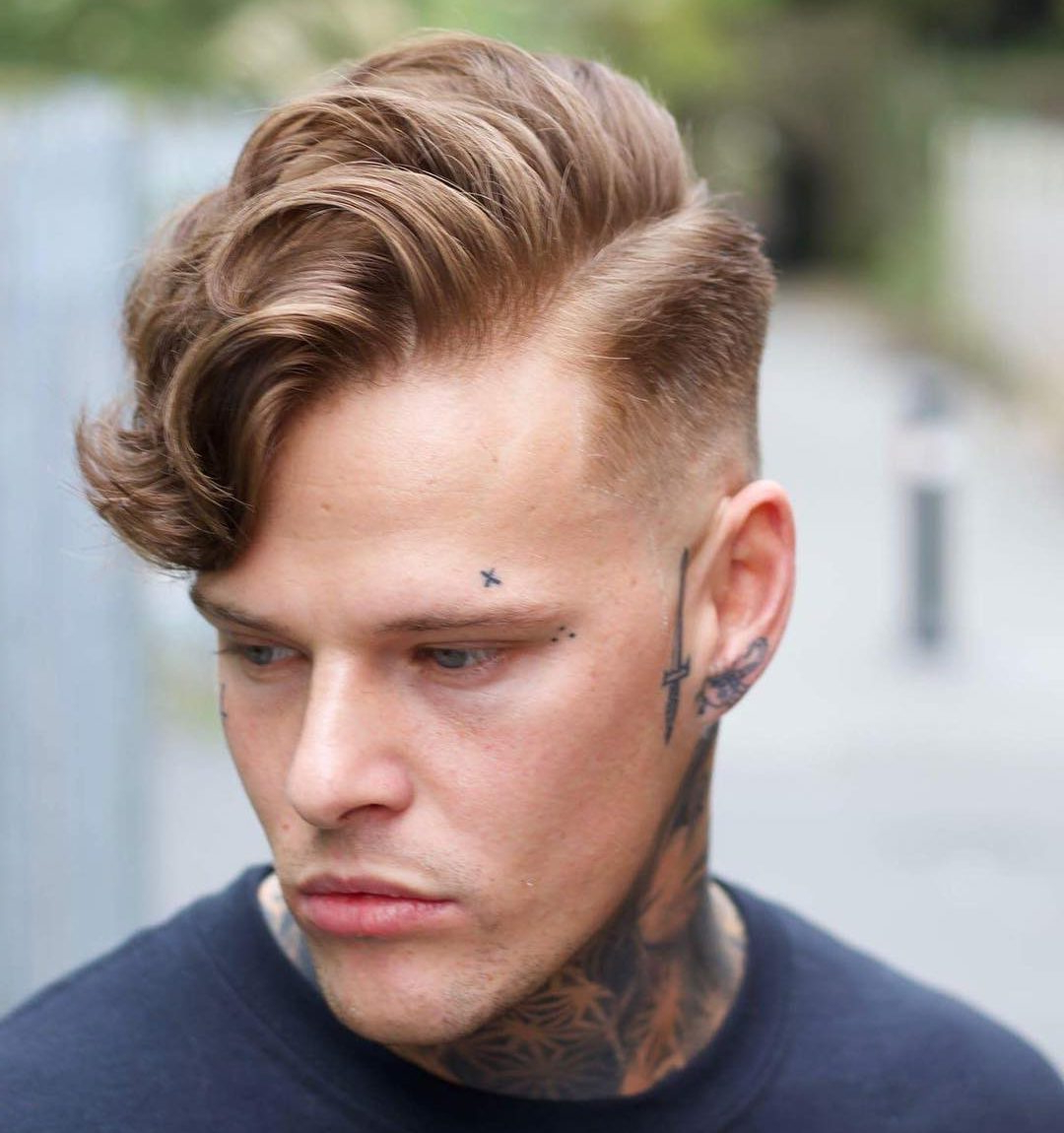 21 Side Part Haircuts (Cool + Modern) Throughout Well Known Retro Side Hairdos With Texture (View 3 of 20)