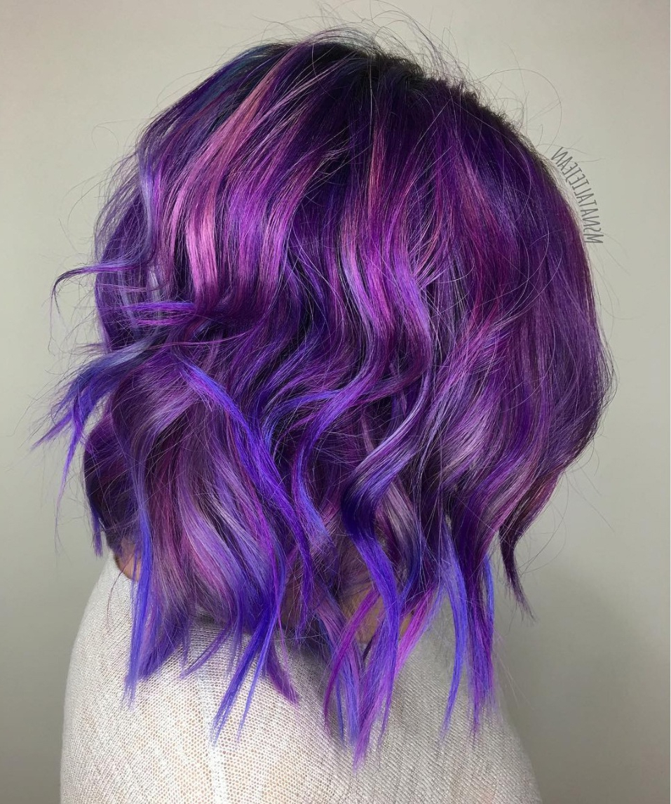 23 Stunning Purple Hair Color Ideas For (View 17 of 20)