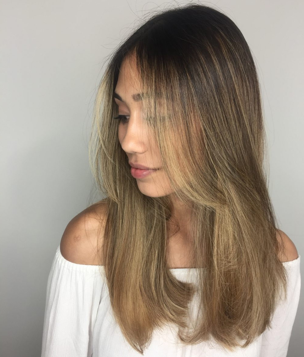 26 Prettiest Hairstyles For Long Straight Hair In 2019 Intended For Well Known Sleek Straight And Long Layers Hairstyles (View 1 of 20)