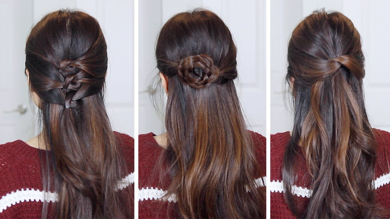 3 Easy Half Up Half Down Hairstyles (Gallery 20 of 20)