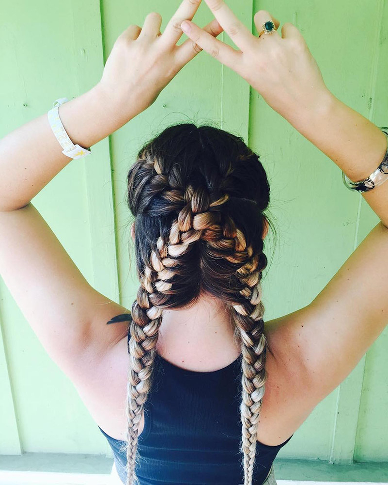 30 Festival Ready Braided Hairstyles To Inspire Your Look With Regard To Preferred Blue Braided Festival Hairstyles (View 18 of 20)