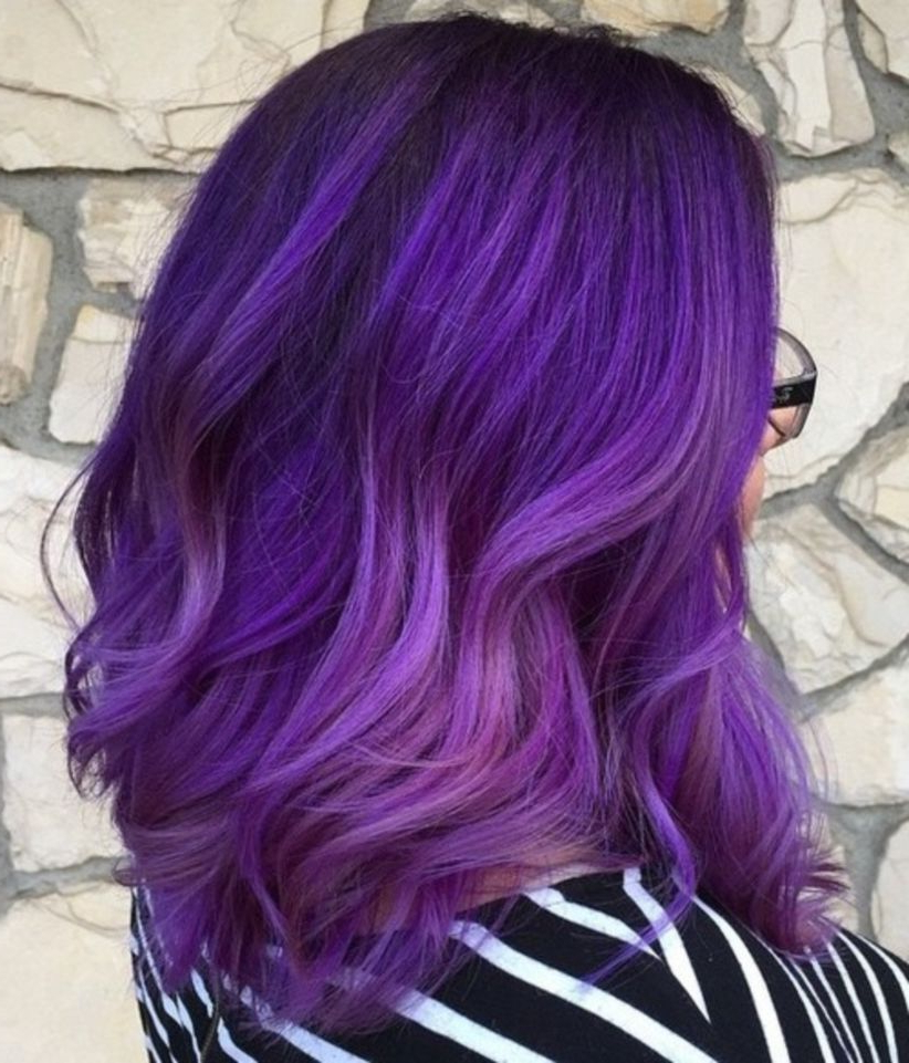 30 Hairstyles Fall Winter Ultraviolet (View 4 of 20)