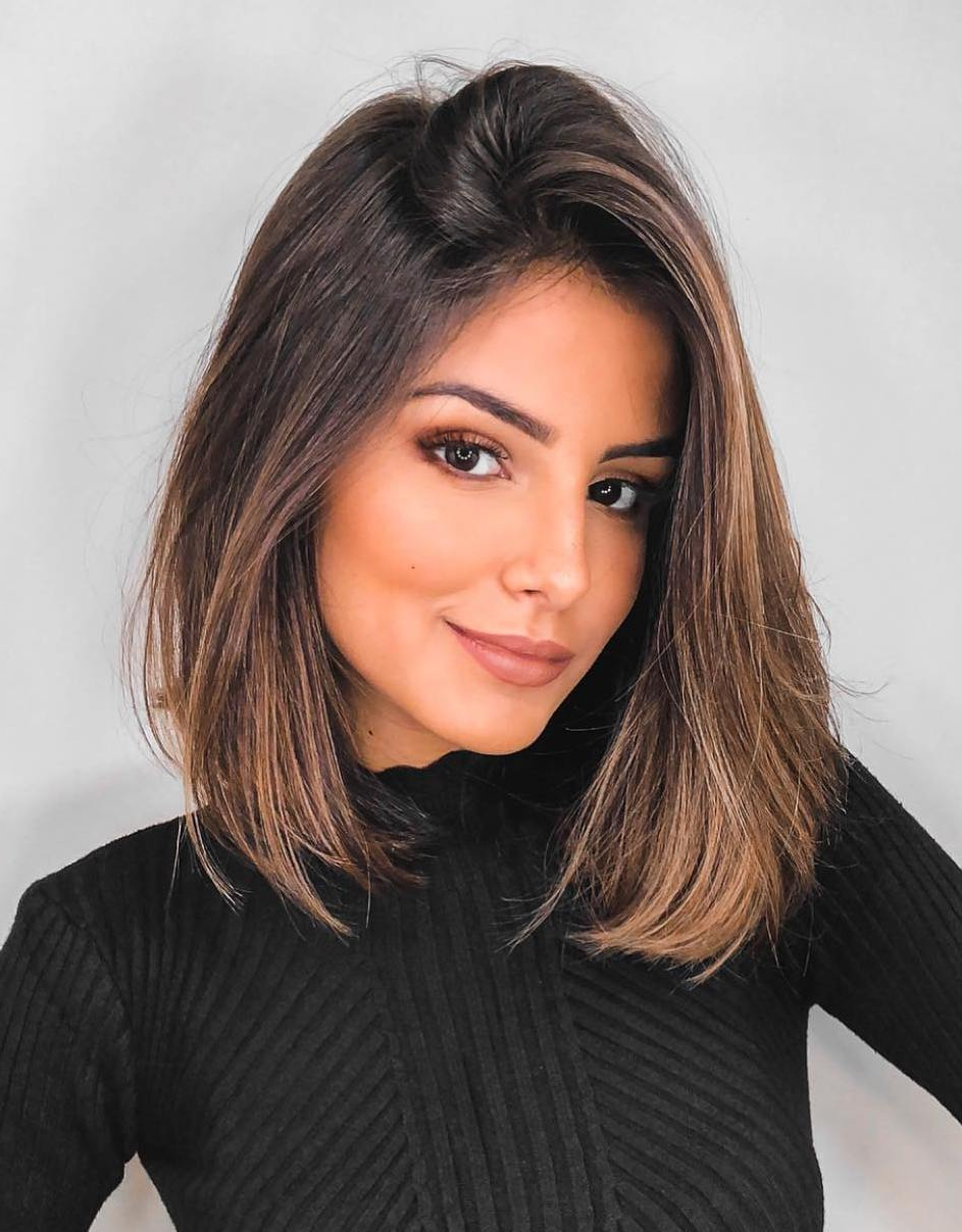 35 Killer Ways To Work Long Bob Haircuts For 2019 Within Well Known Wavy Lob Hairstyles With Face Framing Highlights (View 17 of 20)