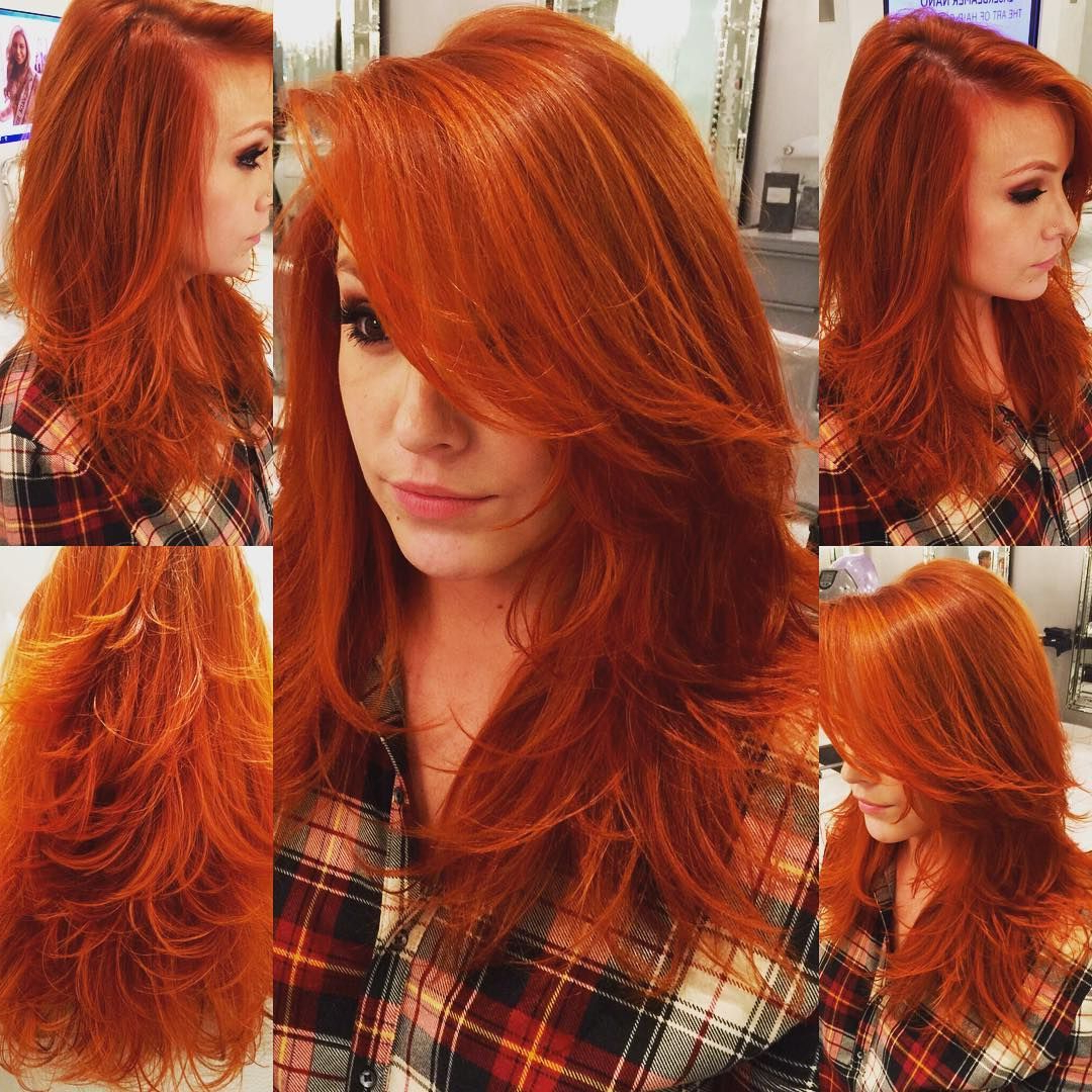 35 Stunning New Red Hairstyles & Haircut Ideas For 2019 In Favorite Medium Length Red Hairstyles With Fringes (View 5 of 20)
