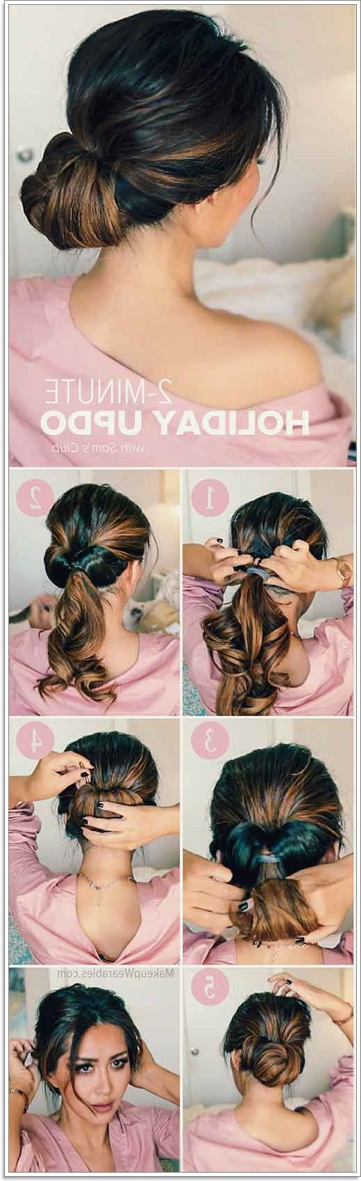 36 Fuss Free Messy Buns You Can Rock From Day To Night Intended For Favorite Elegant High Bouffant Bun Hairstyles (View 18 of 20)