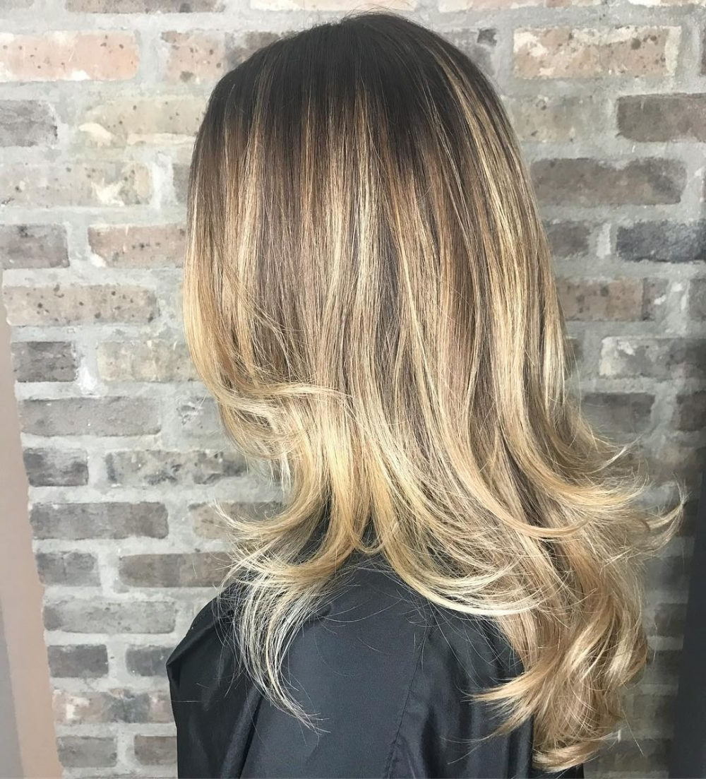 36 Perfect Hairstyles For Long Thin Hair (trending For 2019!) With Newest Long Layered Hairstyles With Added Sheen (View 13 of 20)