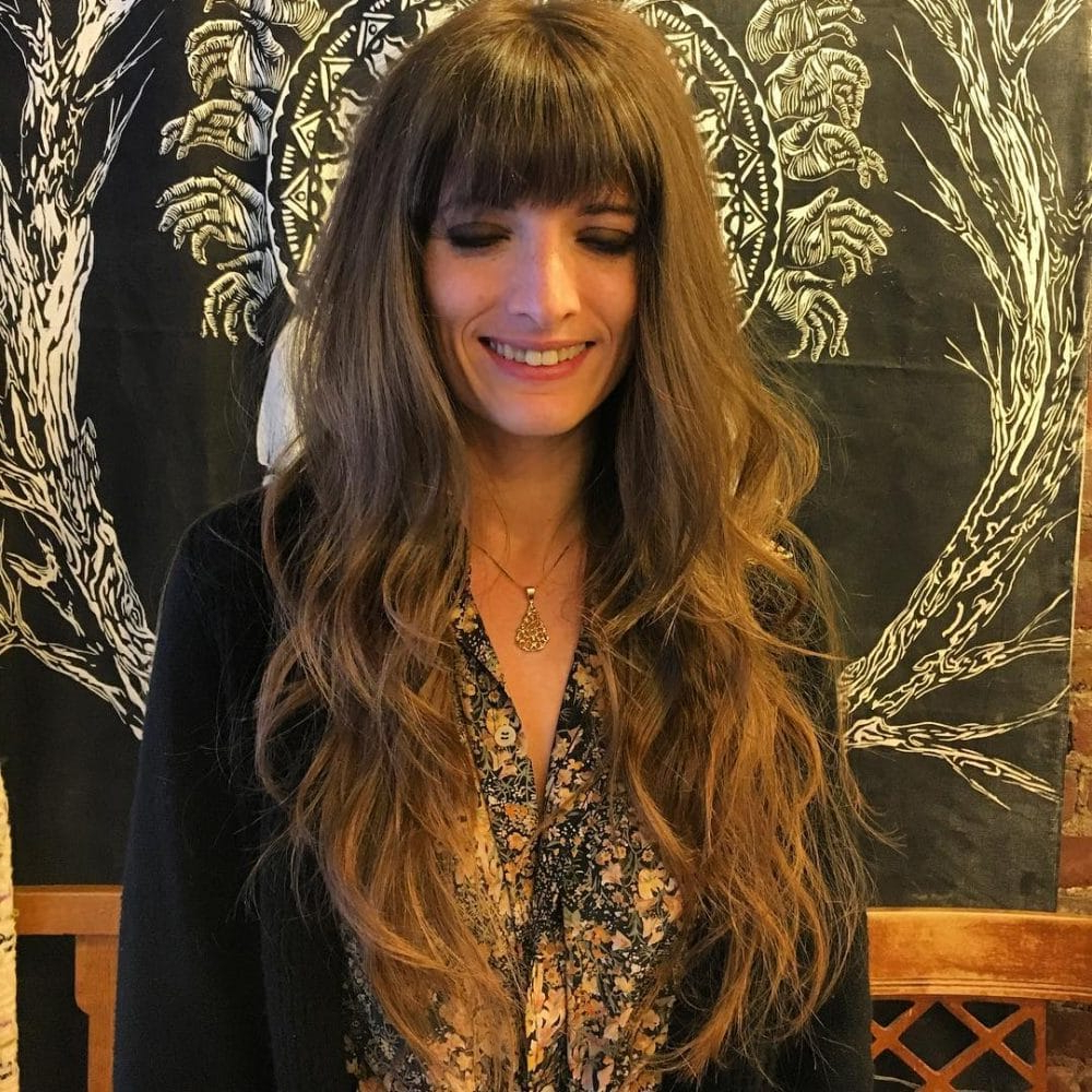 38 Flattering Examples Of Long Hair With Bangs In Famous Long Hairstyles With Straight Fringes And Wavy Ends (View 9 of 20)