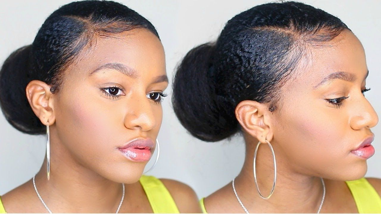 4c Hair In 2019 Intended For Fashionable Sleek High Bun Hairstyles With Side Sweep (View 8 of 20)