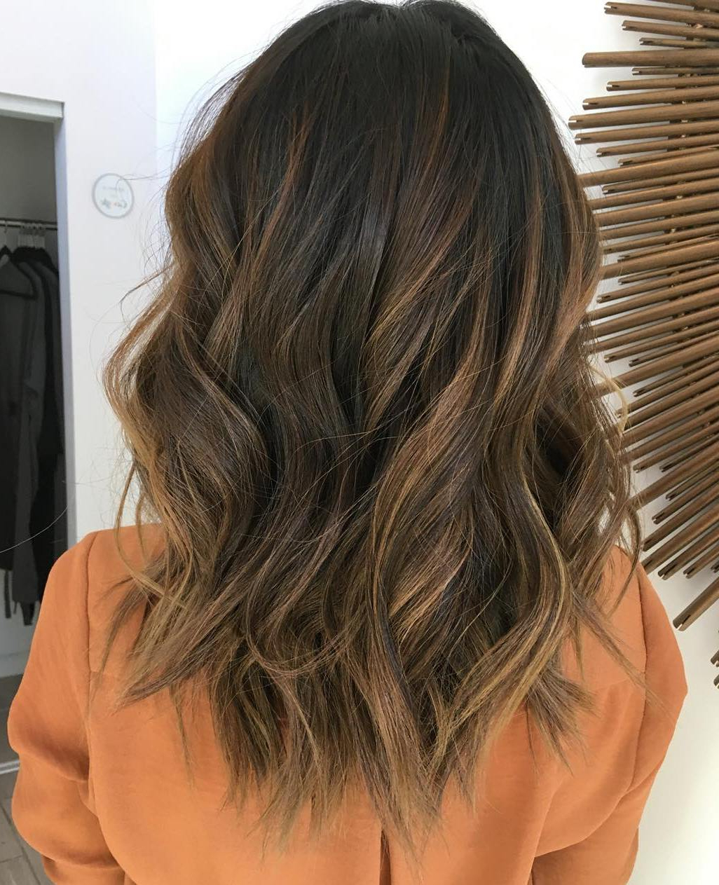 5 Medium Dark Brown Hair With Caramel Balayage – Menhairdos In Most Up To Date Easy Side Downdo Hairstyles With Caramel Highlights (View 3 of 20)