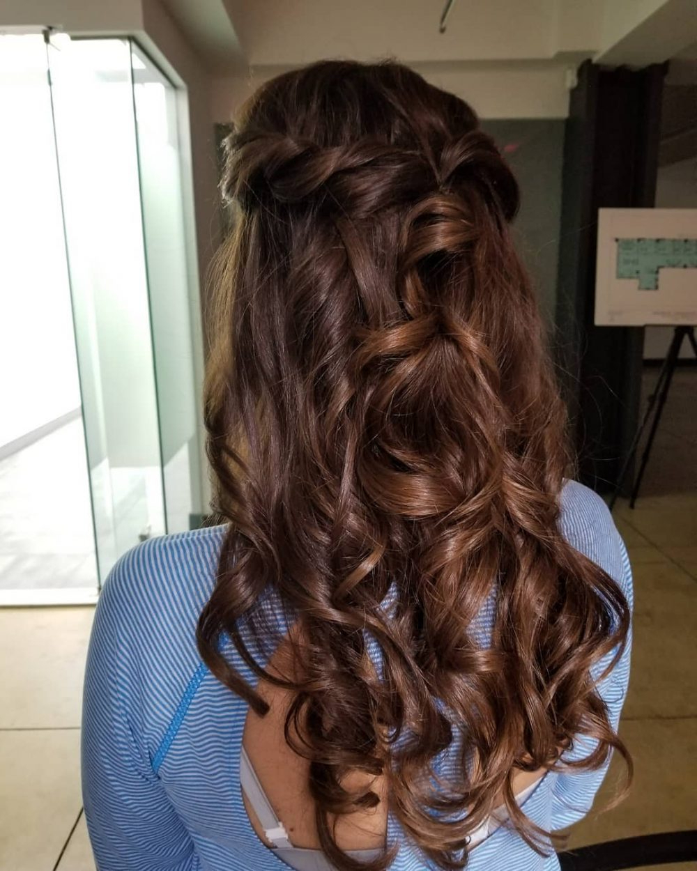 50 Party Hairstyles That Are Fun & Chic For 2019 For Most Recent Cascading Silky Waves Hairstyles (View 7 of 20)
