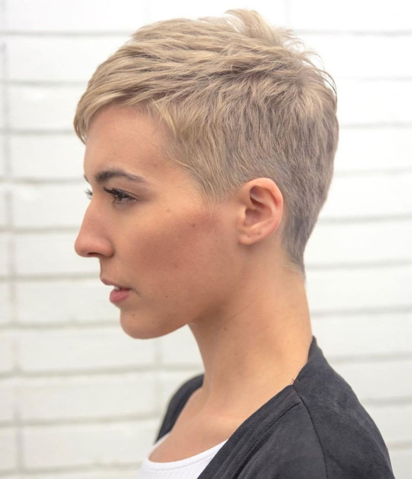60 Cute Short Pixie Haircuts – Femininity And Practicality Within Popular Boyish Shag Asian Hairstyles (View 11 of 20)