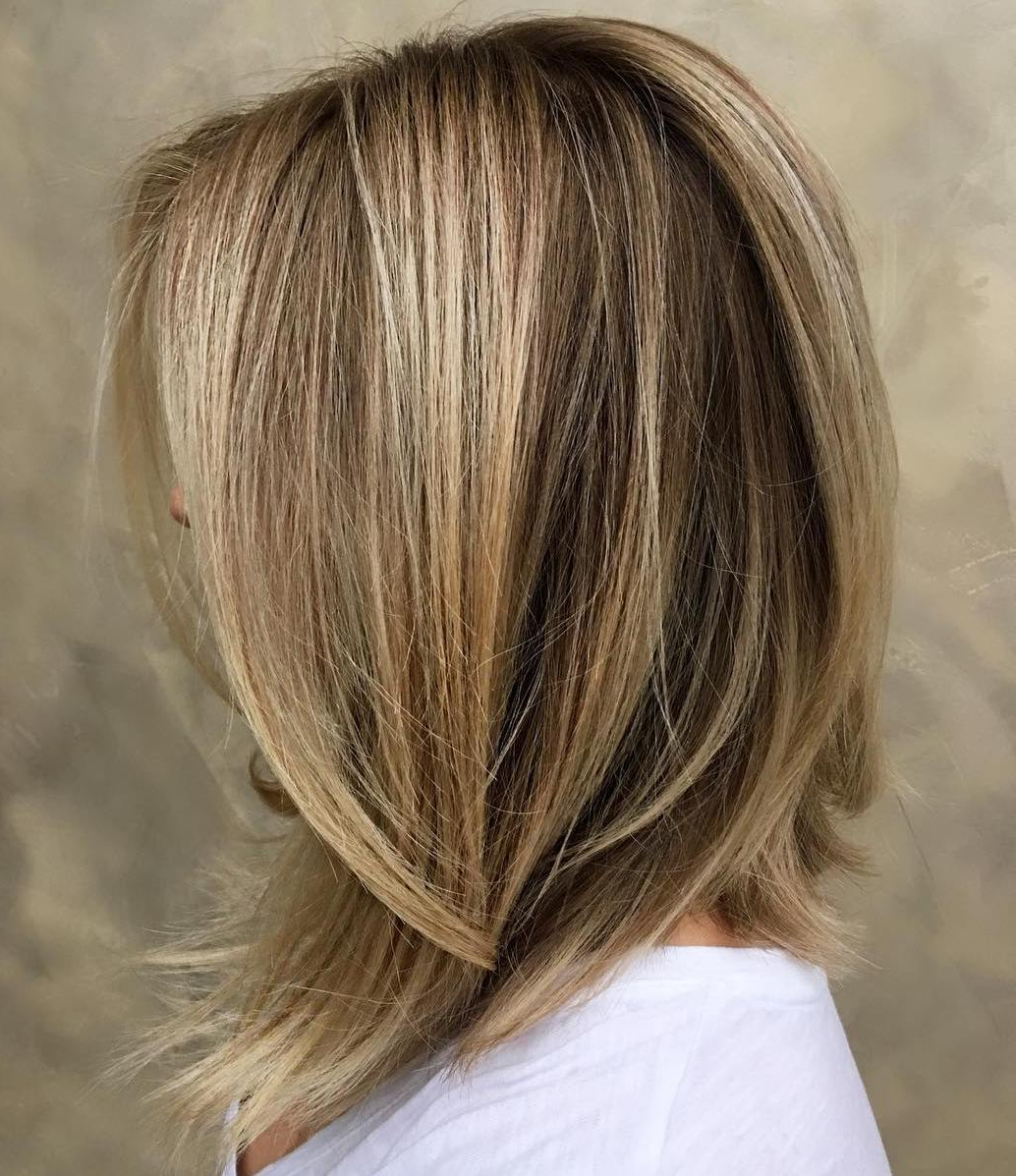 60 Inspiring Long Bob Hairstyles And Long Bob Haircuts For 2019 Throughout Newest Easy Side Downdo Hairstyles With Caramel Highlights (View 14 of 20)