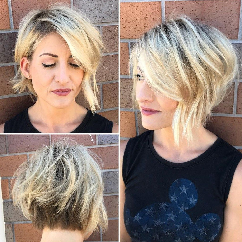 Featured Photo of Very Short Stacked Bob Hairstyles With Messy Finish