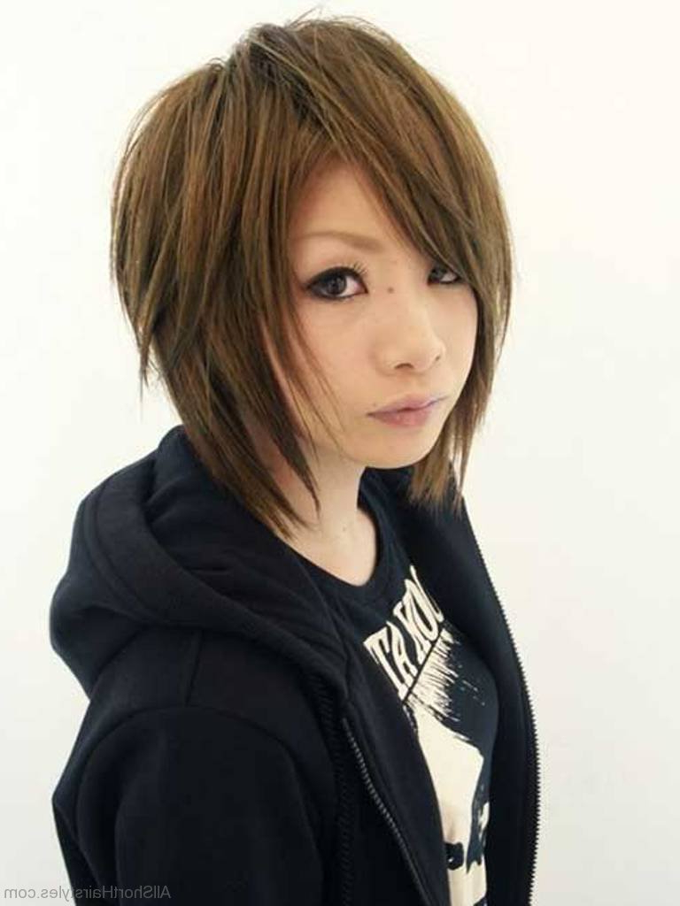 75 Appealing Short Side Swept Haircuts For Girls In Most Up To Date Cool Silver Asian Hairstyles (Gallery 14 of 20)