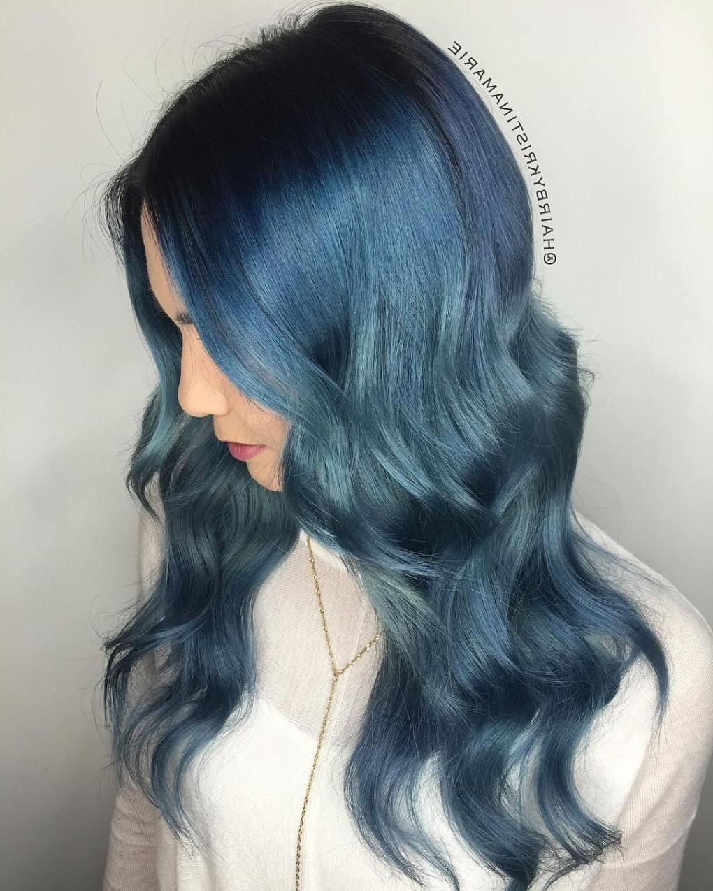 All In 2020 Black And Denim Blue Waves Hairstyles (View 6 of 20)