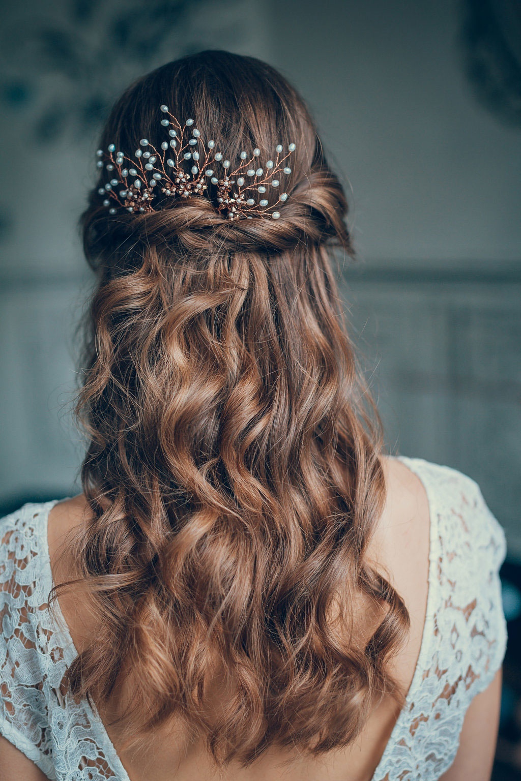 Beautiful Bridal Half Up Half Down Wedding Hair Inspiration Pertaining To Most Popular Long Half Updo Hairstyles With Accessories (View 6 of 20)