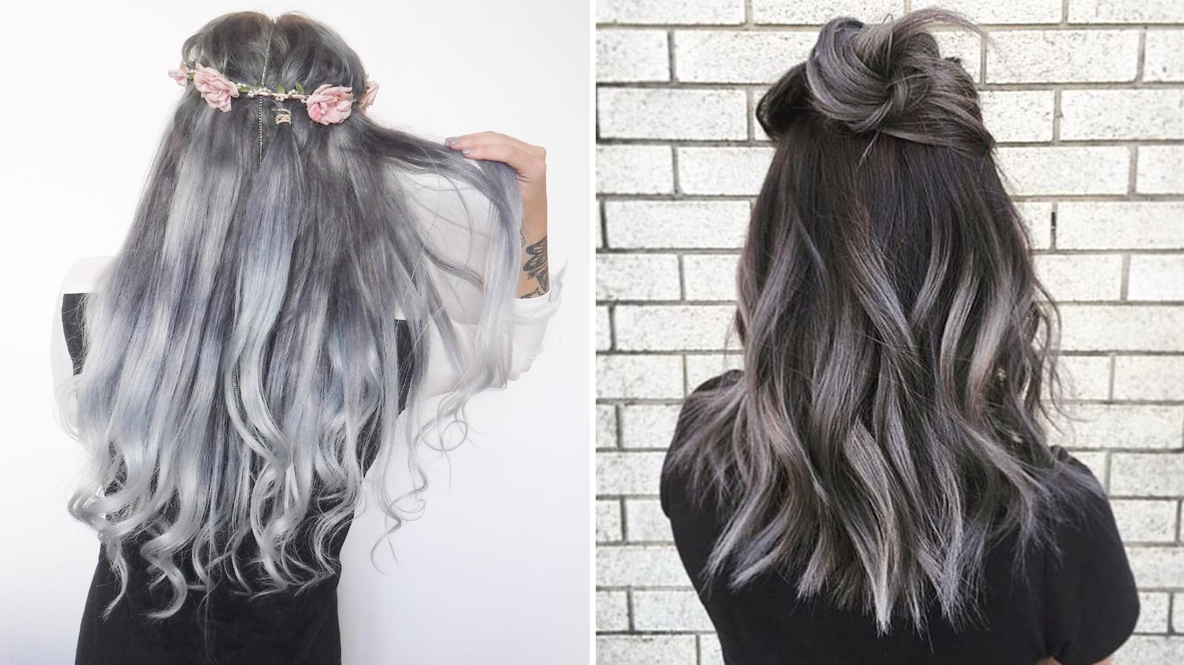 Best And Newest Cool Silver Asian Hairstyles Intended For The Gray Hair Trend: 32 Instagram Worthy Gray Ombré (View 15 of 20)