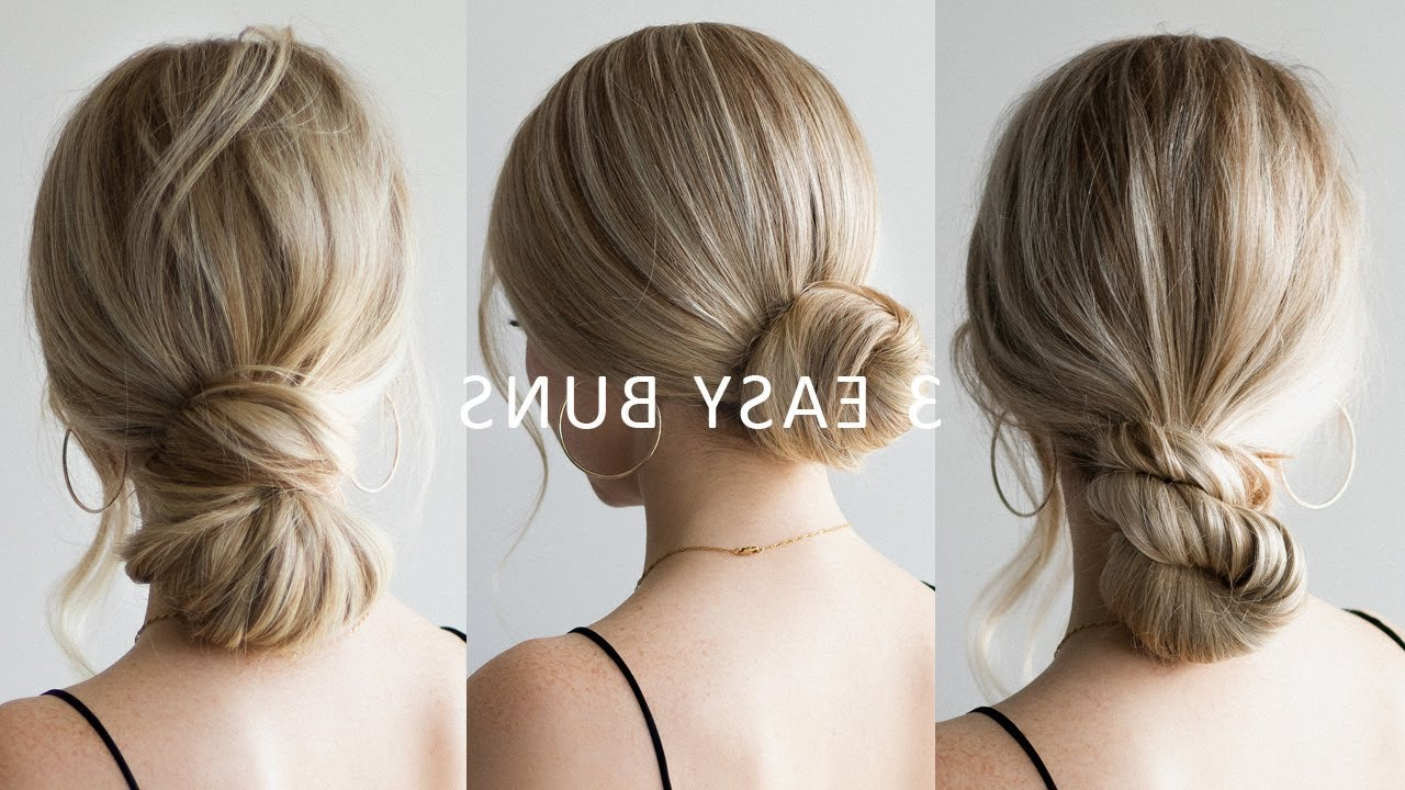 Best And Newest Loose Low Ponytail Hairstyles With Casual Side Bang Pertaining To How To: 3 Easy Low Bun Hairstyles 💕 Perfect For Prom, Weddings, Work (View 8 of 20)