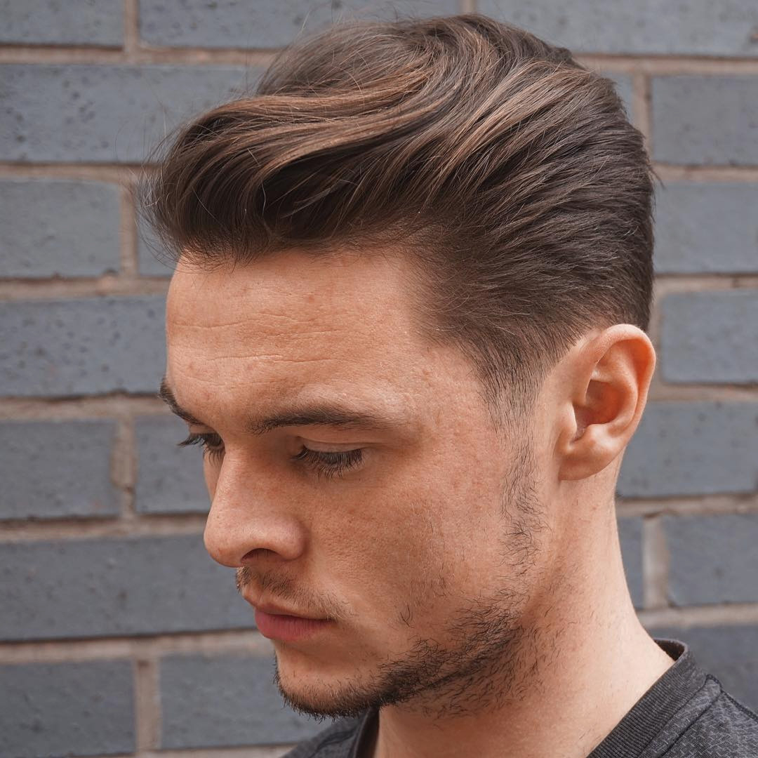 Comb Back Hairstyle New Excellent Top Mens Haircuts 2014 For Most Recently Released Long Hairstyles With Slicked Back Top (View 7 of 20)