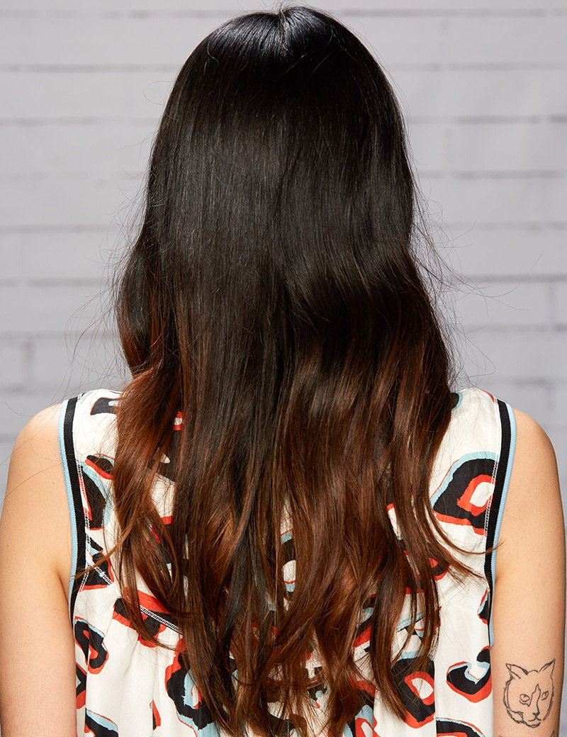 Copper Coated Black Ombre Haircolor (View 16 of 20)
