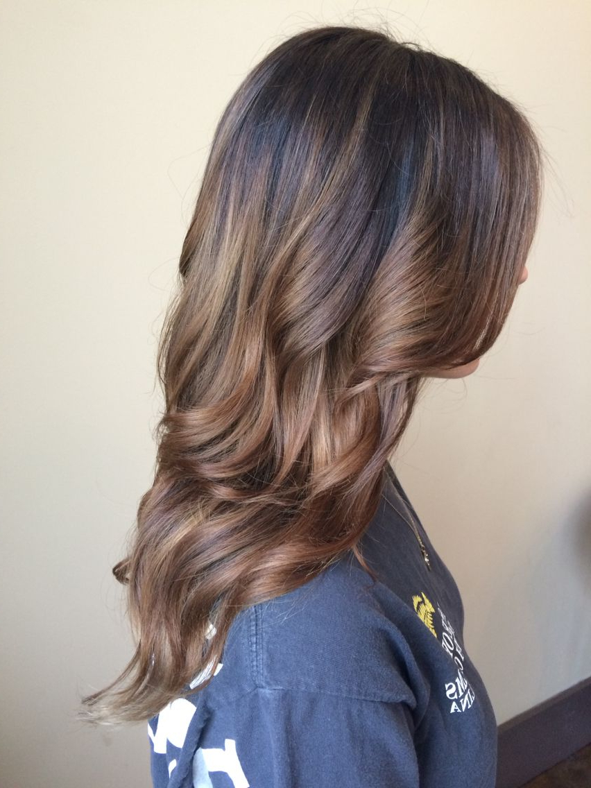 Current Black To Light Brown Ombre Waves Hairstyles Throughout Brown Hair Color Balayage Light Brown Ombré Chestnut (View 9 of 20)