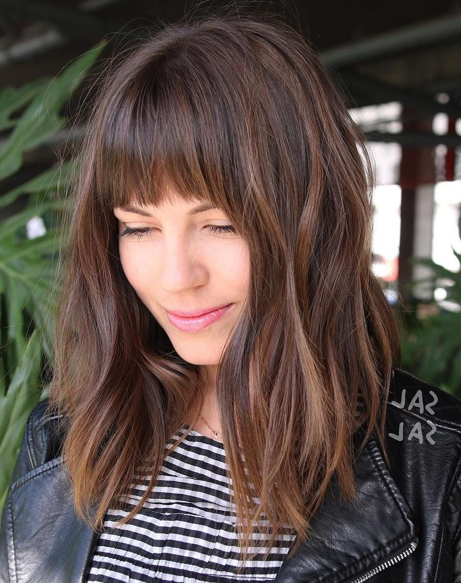 Current Easy Side Downdo Hairstyles With Caramel Highlights With Regard To Pin On Bang Bangs (View 7 of 20)