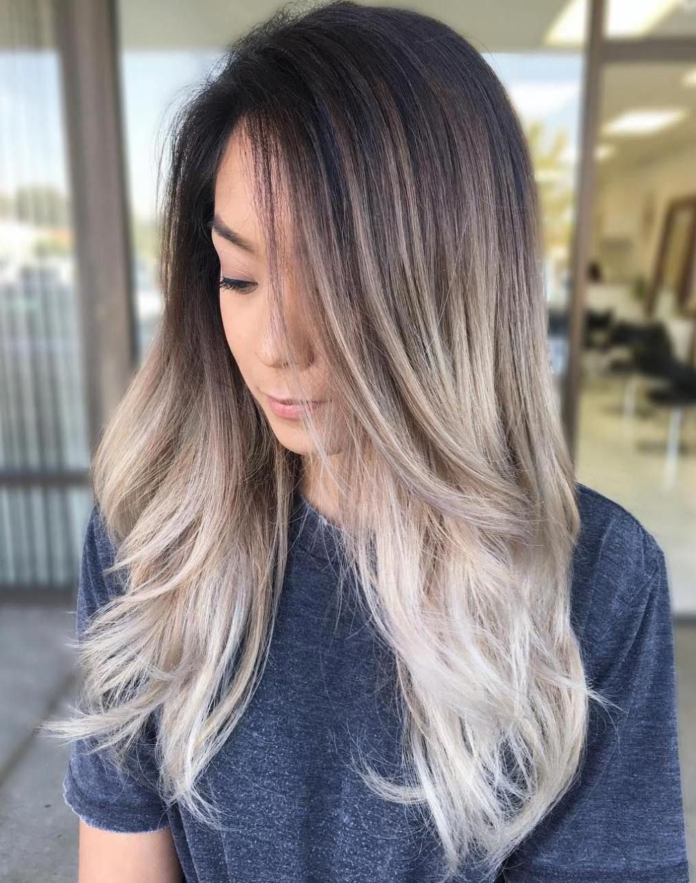 Dark Brown Hair With Ash Blonde Ombre #ombrehairstyles With Favorite Ash Bronde Ombre Hairstyles (Gallery 4 of 20)