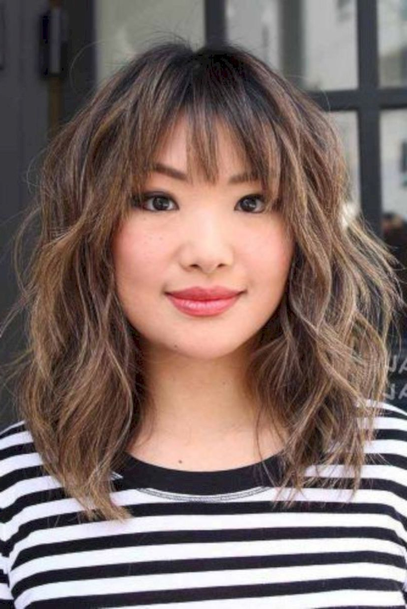 Famous Asian Medium Hairstyles With Textured Waves With Regard To Pin On Hair Styles (View 12 of 20)