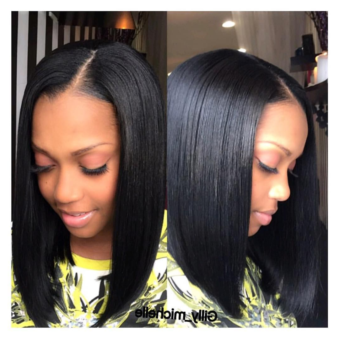 Famous Blunt Wavy Bob Hairstyles With Center Part Regarding 10 Trendy Center Parting Hairstyles (for Short, Medium (View 1 of 20)