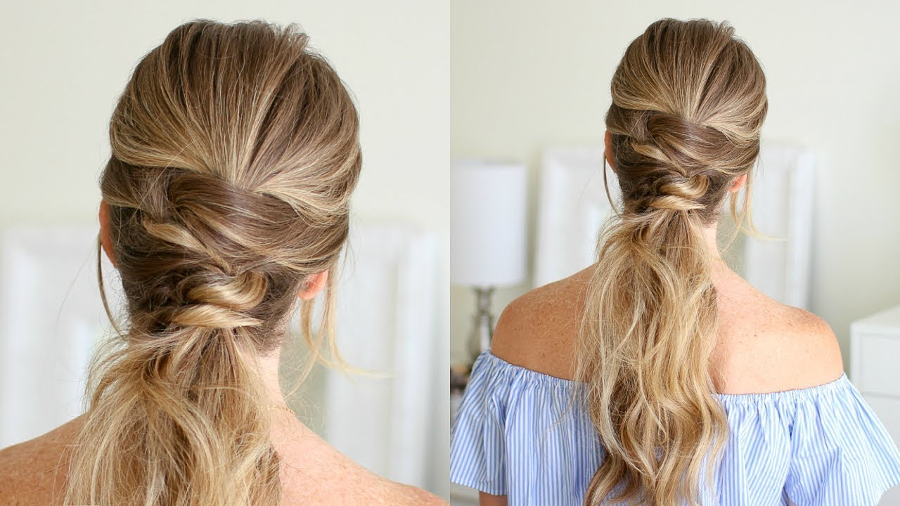 Famous High Looped Ponytail Hairstyles With Hair Wrap In Triple Wrapped Ponytail (View 7 of 20)