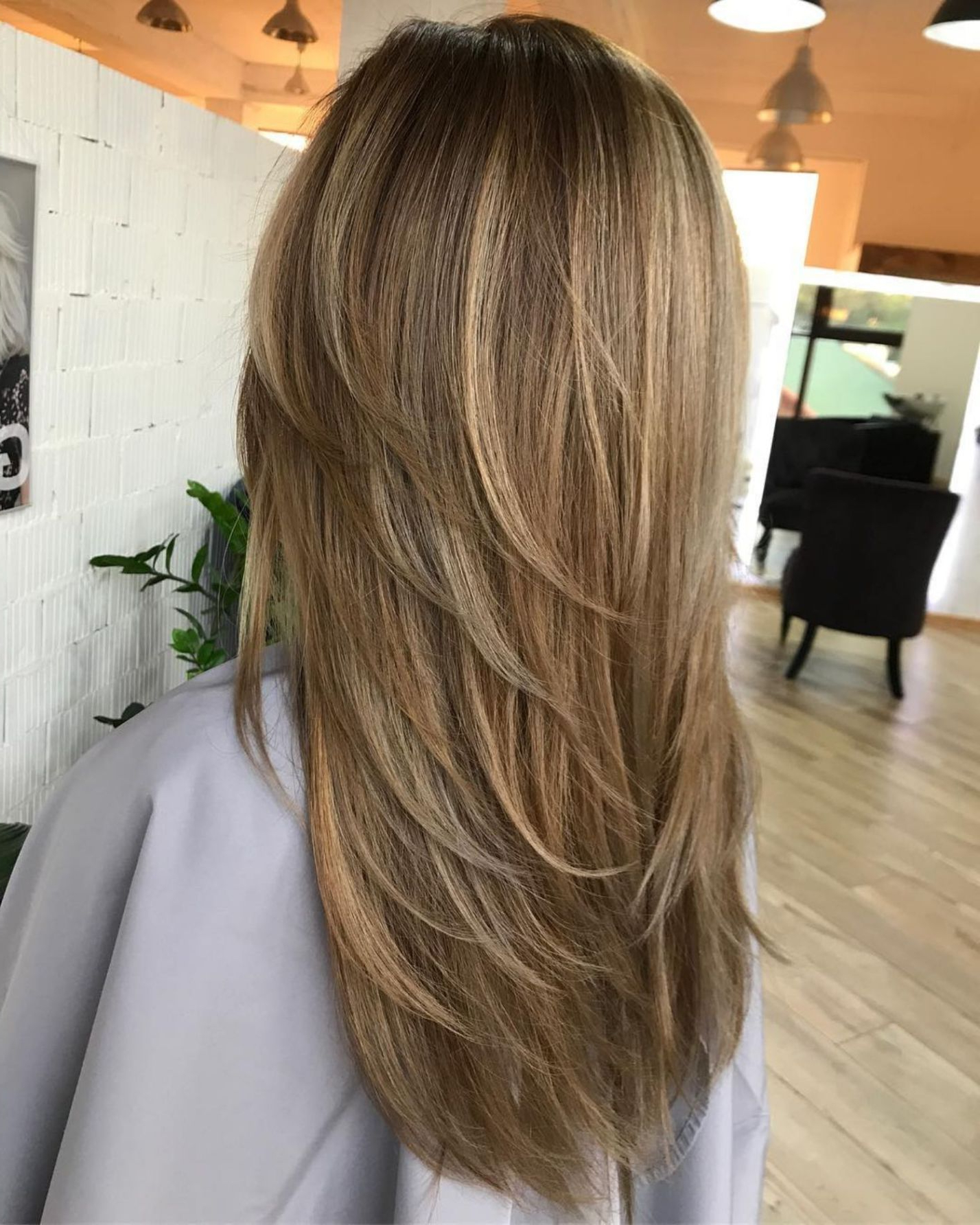 Famous Straight Layered Hairstyles With Twisted Top With Regard To 80 Cute Layered Hairstyles And Cuts For Long Hair (View 14 of 20)