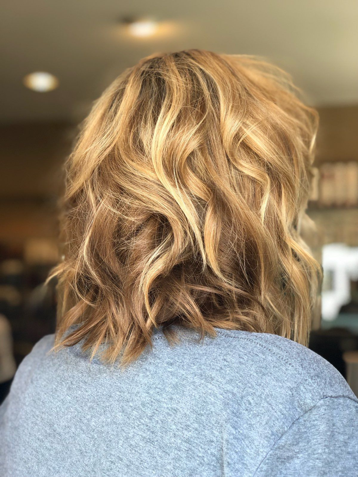Fashion : Beach Wave Hairstyle Superb Texturized Lob Haircut Pertaining To Latest Wavy Lob Hairstyles With Face Framing Highlights (Gallery 8 of 20)