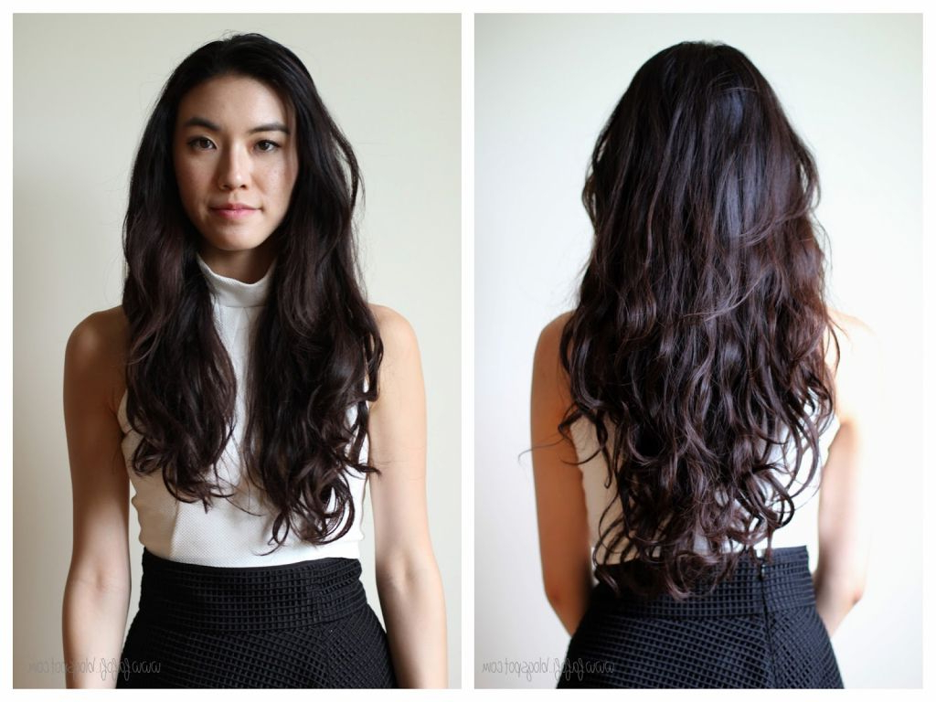 Fashionable Asian Medium Hairstyles With Textured Waves Within Pin On Hair (View 13 of 20)