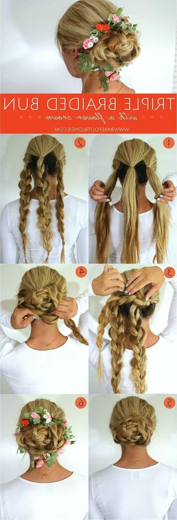 Fashionable Braided Bun Hairstyles With Puffy Crown Regarding 101 Cute & Easy Bun Hairstyles For Long Hair And Medium Hair (View 8 of 20)